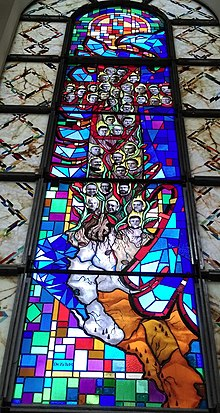 Stained Glass honoring 38 Matyrs of Albania